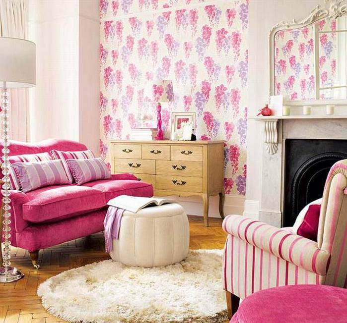 Розовый цвет в интерьере: 56 фото ассоциации с кукольным восприятием реальности