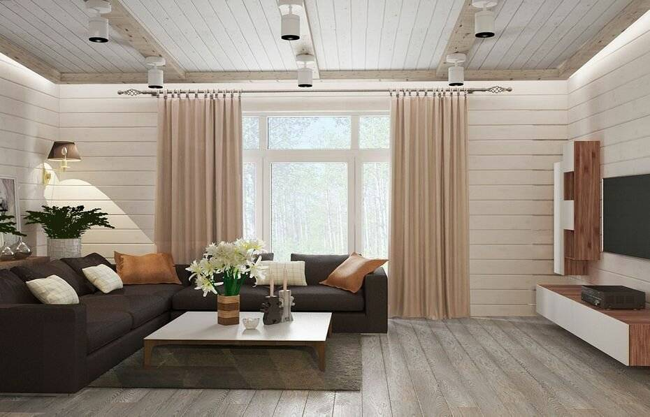 Вагонка в современном интерьере: идеи как покрасить вагонку в белый цвет внутри дома на даче в спальне и в детской, на потолке  - 39 фото