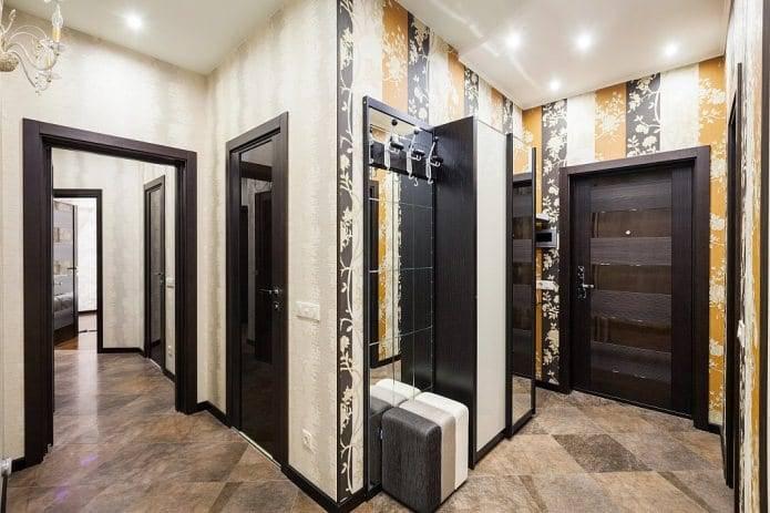 Новинки дизайна прихожей 2020 года: выбор стиля для дизайна. материалы для покрытия стен и полов. освещение и мебель для прихожей. дополнительный декор (фото + видео)