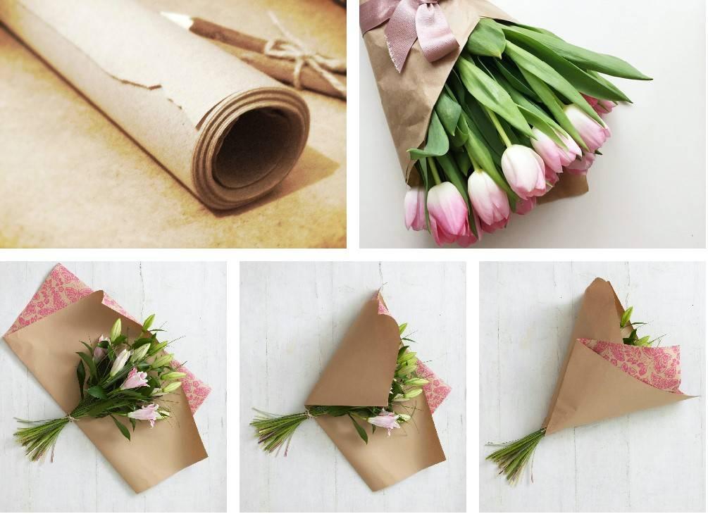 Как обернуть букет бумагой: варианты