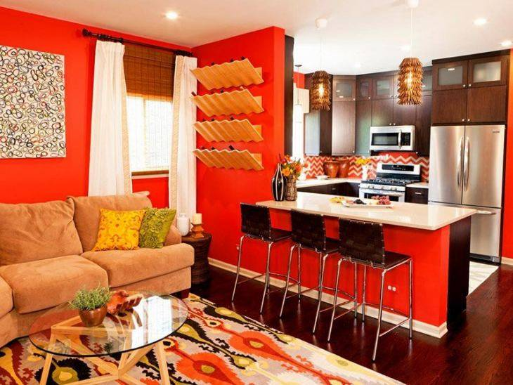Оранжевая кухня: приемы цветового сочетания и дизайн