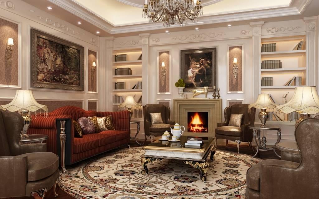 Классическая гостиная: 105 фото-идей как создать уникальный классический стиль