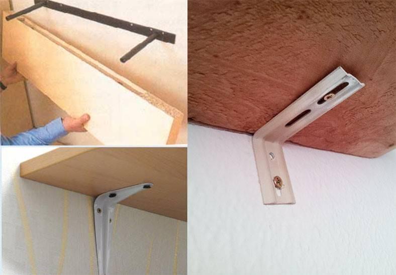 Крепеж для полок к стене, обзор различных вариантов крепления