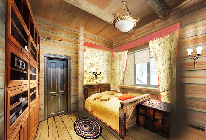 Дизайн деревянного дома, стили и оформление комнат - фото примеров