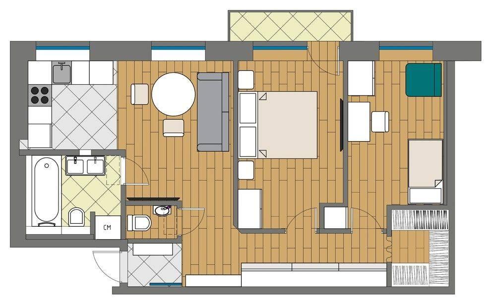 Планировка квартиры в хрущевке: топ-150 фото лучших новинок дизайнаварианты планировки и дизайна