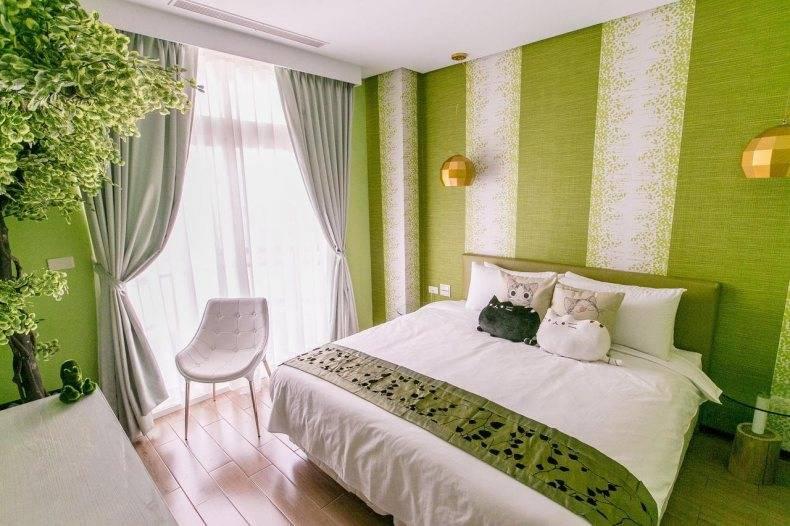 Зеленая спальня — идеи, советы, фото примеры удачного сочетания зеленых цветов в интерьере спальной комнаты