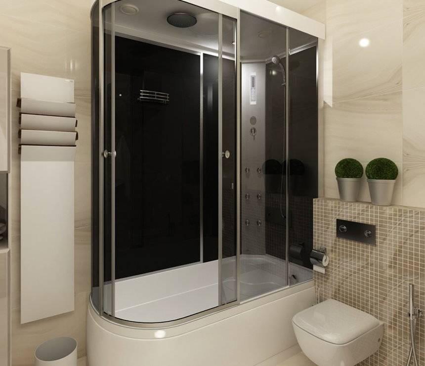 Варианты дизайна ванны с душевой кабинкой