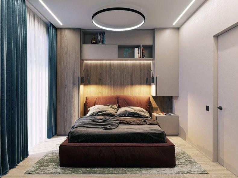 Спальня 13 кв. м. - 125 фото красивого дизайна и необычной планировки