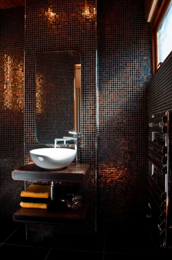 Мозаика в ванной комнате: 100 фото лучших примеров дизайна