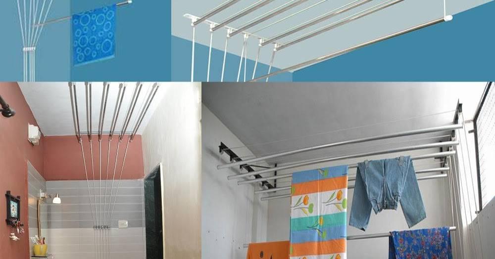 Выбор и установка потолочной сушилки для белья на балкон или лоджию