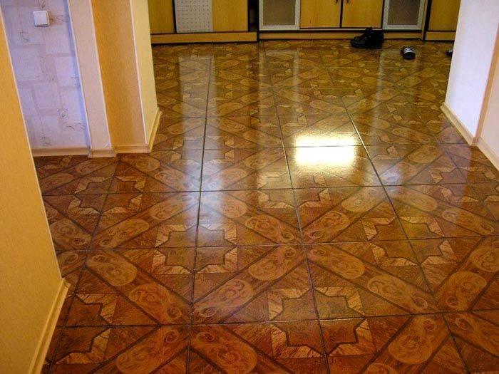 Дизайн плитки на пол для прихожей