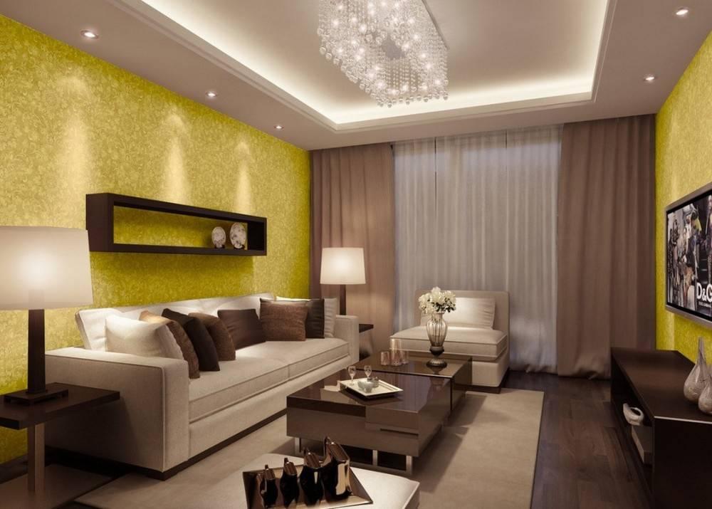 Обои в гостиную: 150 реальных фото примеров использования обоев в дизайне и оформлении помещения