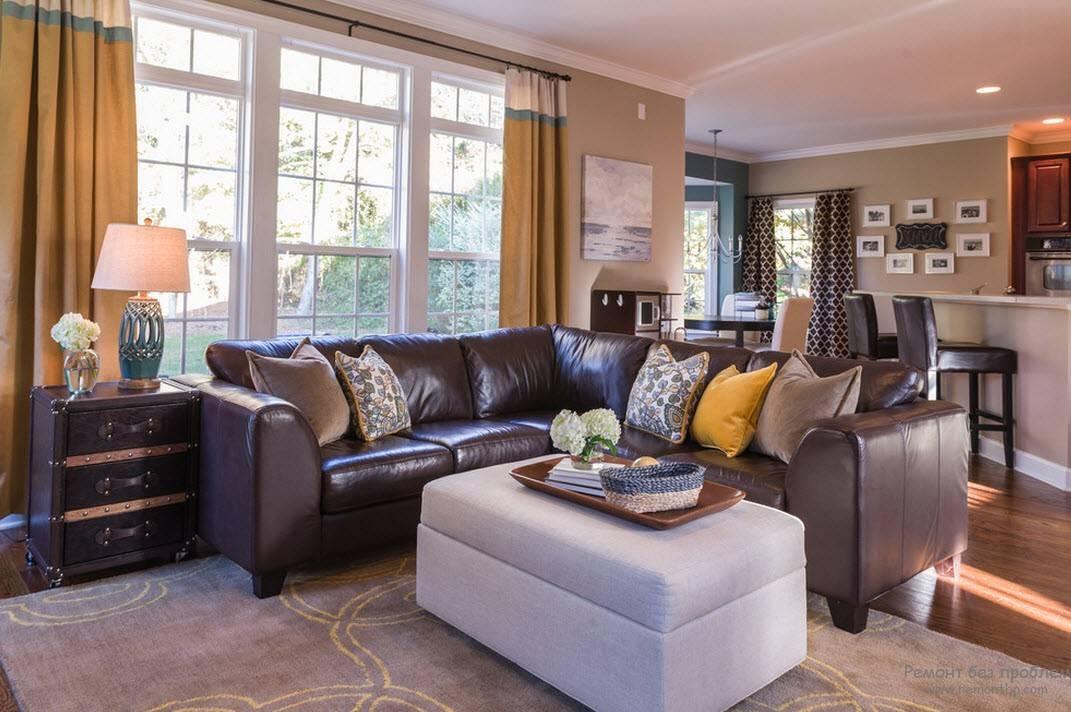 Коричневая гостиная: дизайн, сочетание цветов, стили и фото интерьеров (48 фото) | дизайн и интерьер