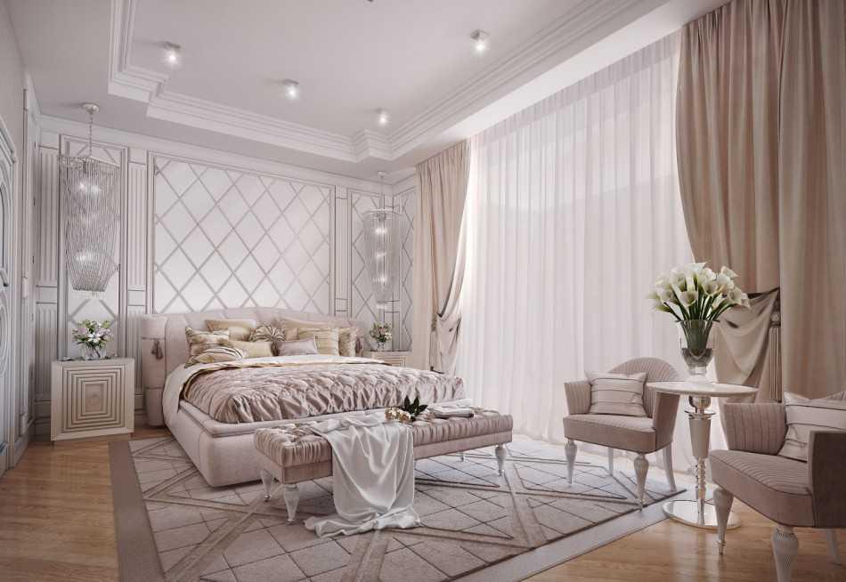 Дизайн спальни в классическом стиле - 70 фото интерьеров