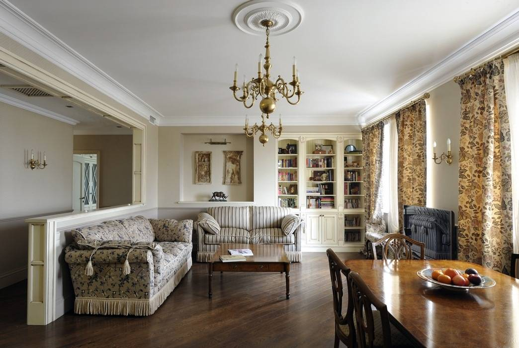 Интерьер в английском стиле - 190+ (фото) дизайн кухни/ гостиной