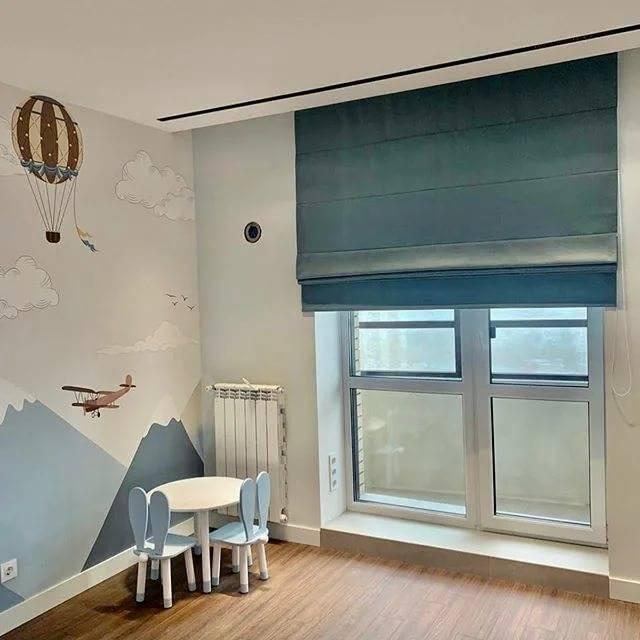 Римские шторы в интерьере фото, римские шторы на кухне, на балконе, в гостиной, в спальне