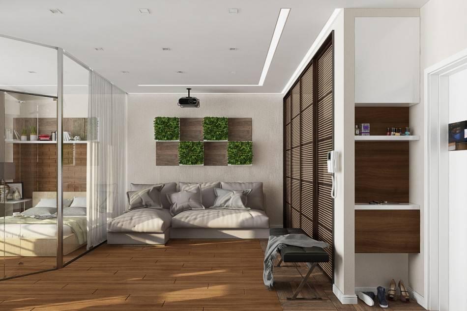 Дизайн однокомнатной квартиры 40 кв. м: 3 готовых проекта   32 фото