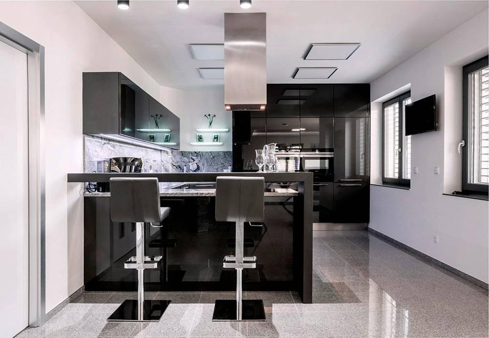 Кухня в стиле хай-тек — современные решения для обустройства и дизайна кухни в стиле хай-тек + лучшие фото-обзоры