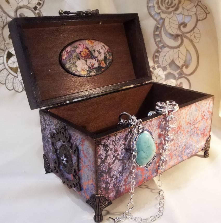 Декор предметов декупаж мастер-класс по декору шкатулки краска