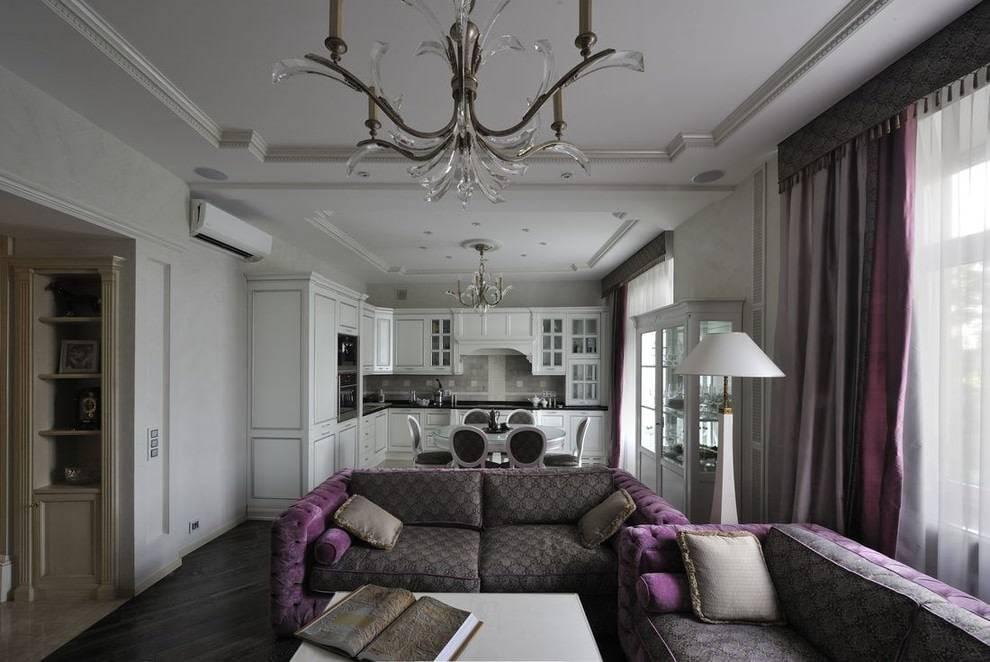 Стильная гостиная неоклассика: 70 фото интерьера, выбор мебели и дизайна