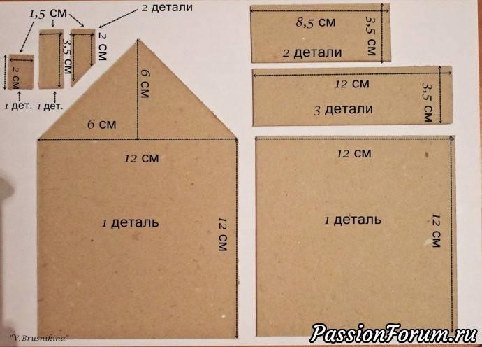 Как сделать красивый домик из картона - оригинальные и интересные схемы для детей