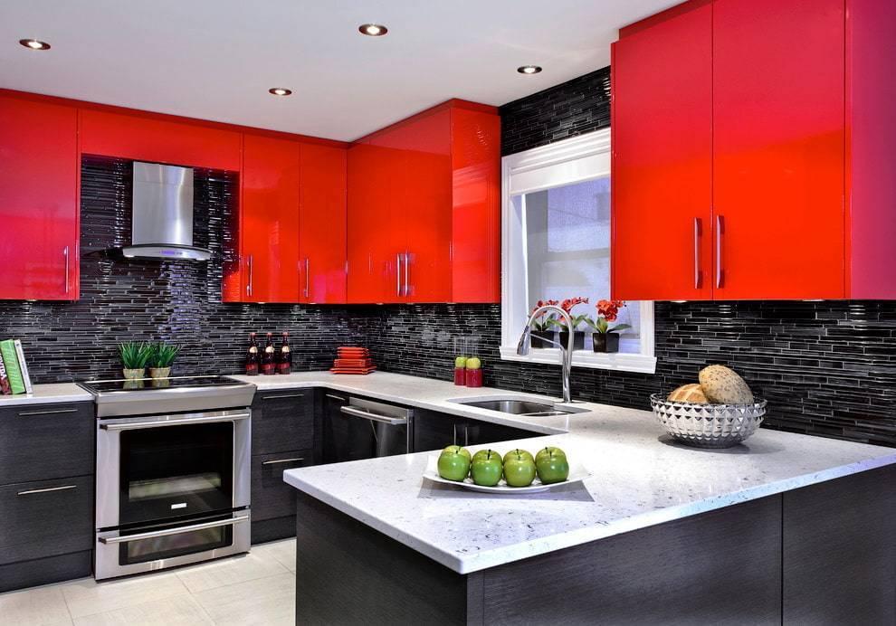 Красная кухня: 100+ реальных фото примеров и советы по оформлению