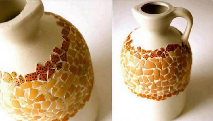 Декор предметов декупаж декупаж плоской бутылки яичной скорлупой бумага бутылки стеклянные клей краска скорлупа яичная