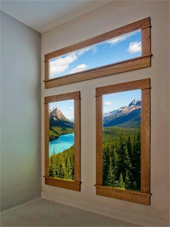 Дизайн окно в современном интерьере: формы и цвета