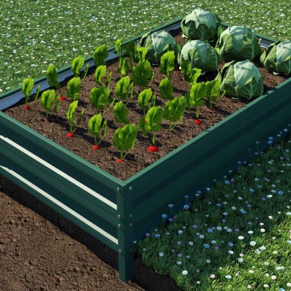 Металлические грядки для огорода
