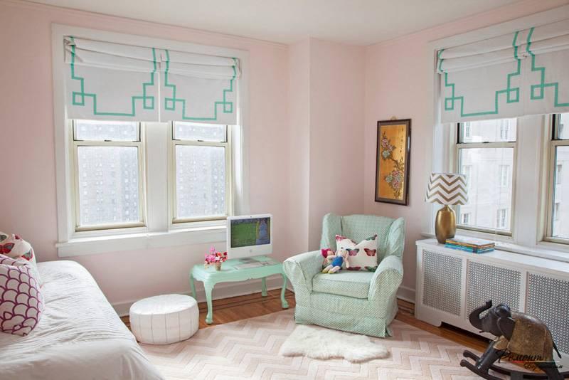 Как подобрать римские шторы в детскую комнату для мальчика или девочки с учетом интерьера помещения