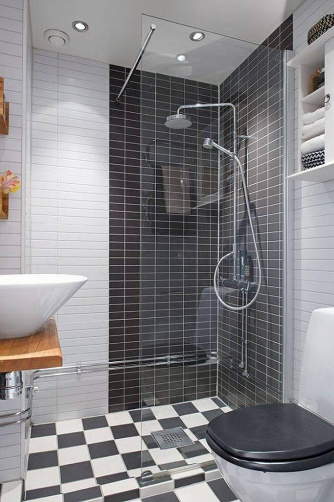 Дизайн ванны с душевой кабиной: маленькая ванна с душевым уголком и отдельной кабиной