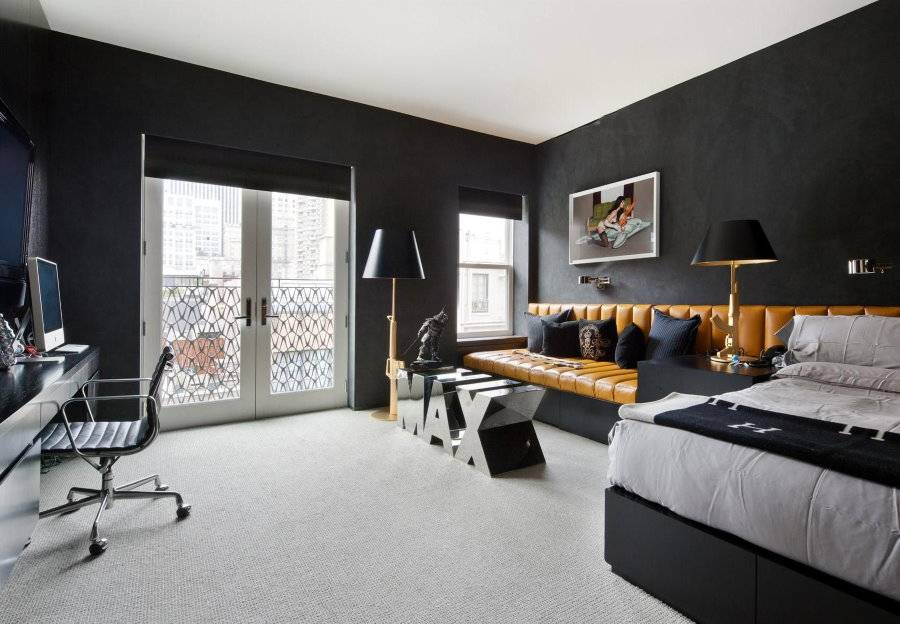 Дизайн комнаты для молодого человека: интерьер спальни для парня 20 лет, для холостяка в современном стиле, мужской однокомнатной квартиры