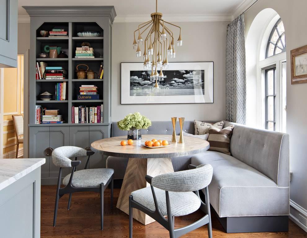 Дизайн кухни с диваном: правила оформления зоны отдыха и выбор дивана, подходящего для кухни