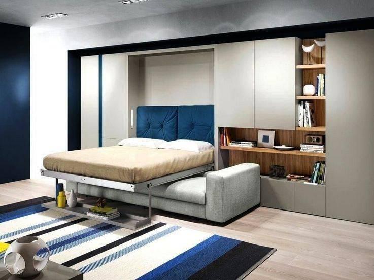 Кровать в стене: фото в интерьере, виды, дизайн, примеры откидных трансформеров