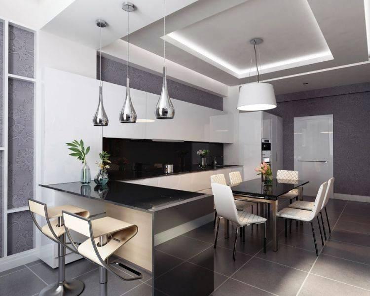 Дизайн кухни в современном стиле: реальные фото примеры