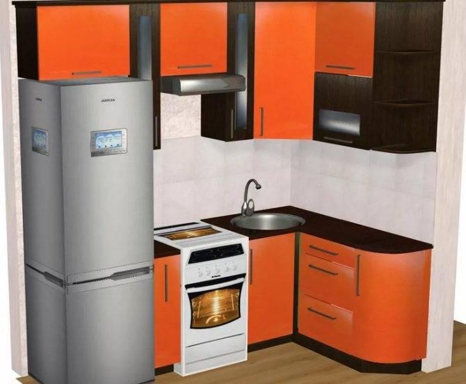 Маленькая кухня 5 кв. м с холодильником (148 фото): дизайн в хрущевке