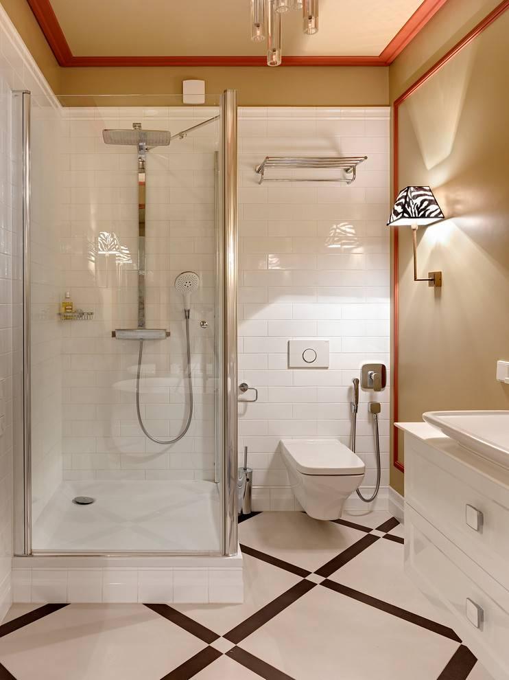 Дизайн ванной комнаты с душевой кабиной и туалетом - правила организации помещения