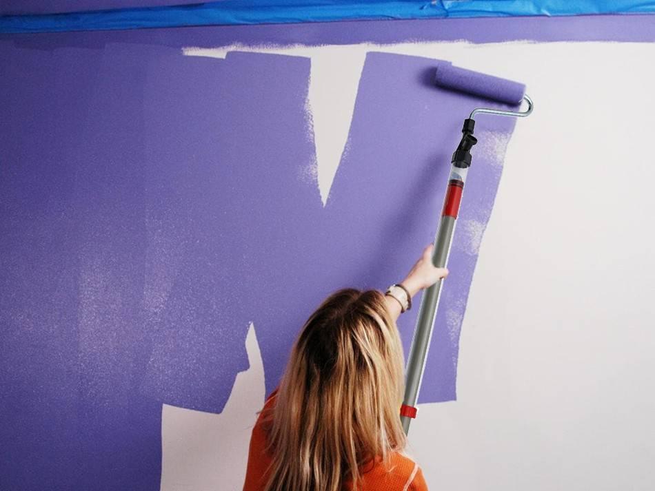 Как правильно красить валиком стены без следов и разводов: техника покраски водоэмульсионной и иными красками