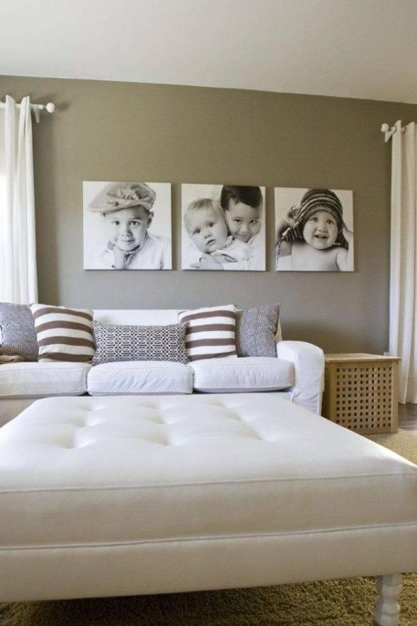 Коллаж из картин или фотографий на стену: идеи оформления и расположения