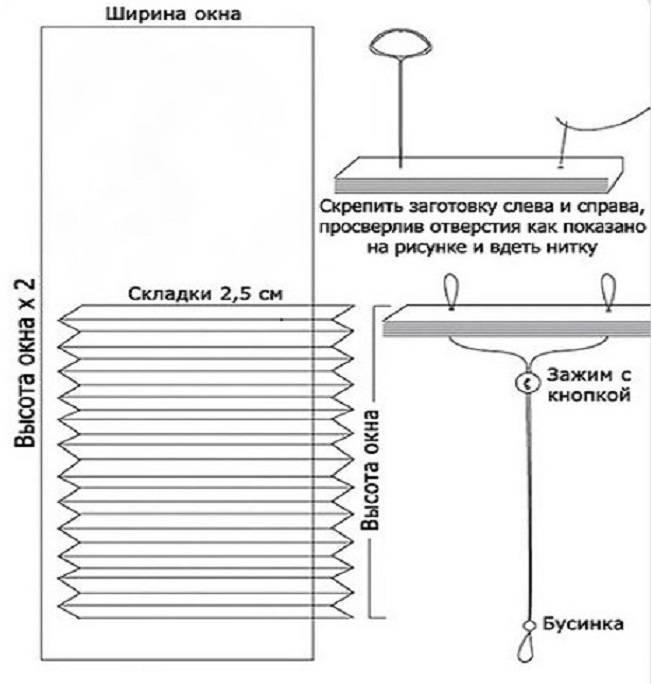 Как сделать шторы для окон из бумаги своими руками