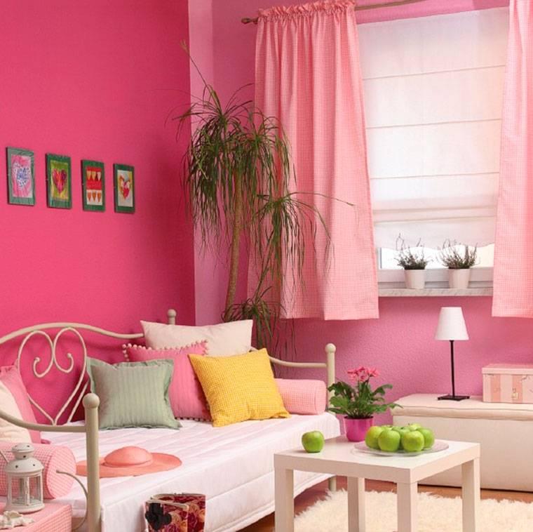 Пыльно розовый цвет в интерьере хочу квартиру