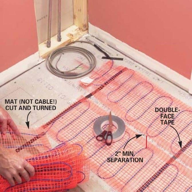 Как сделать тёплый пол в ванной своими руками