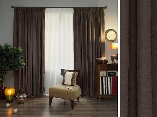 Коричневые шторы в различных интерьерах, как выбрать правильный оттенок для гостиной, спальни, кухни - 56 фото