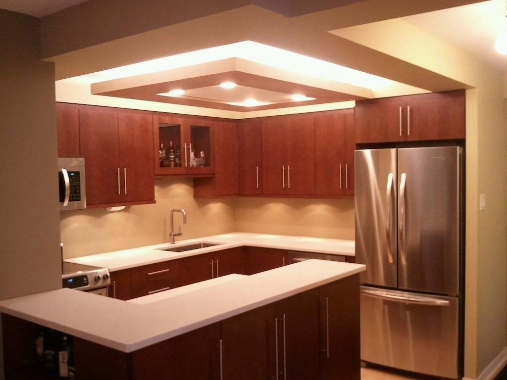 Потолки из гипсокартона на кухне - лучшие варианты и монтаж