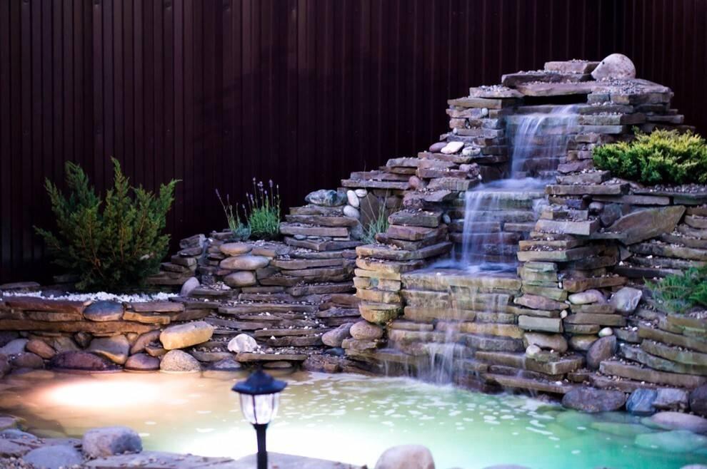 Водопад своими руками: подробная пошаговая инструкция по постройке (100 фото)