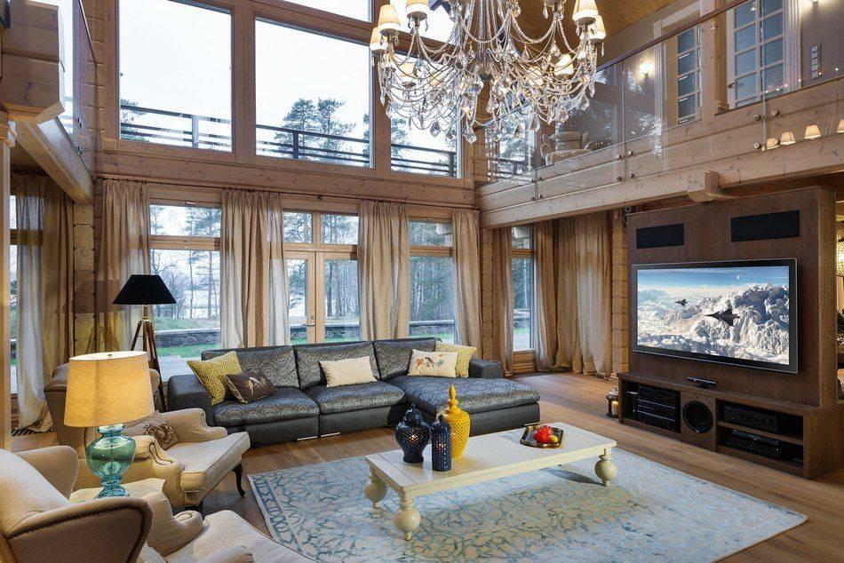 Гостиная с камином в частном доме - 55 фото идей идеально оформленного интереьра