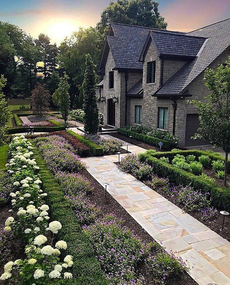Ландшафтный дизайн участка перед домом своими руками