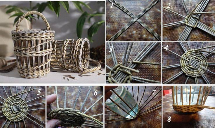Корзинка из трубочек: мастер-класс и пошаговая инструкция по плетению (100 фото)