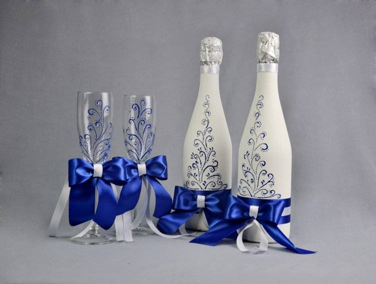 2021 ᐈ ???? (+98 фото) декор свадебных бокалов своими руками