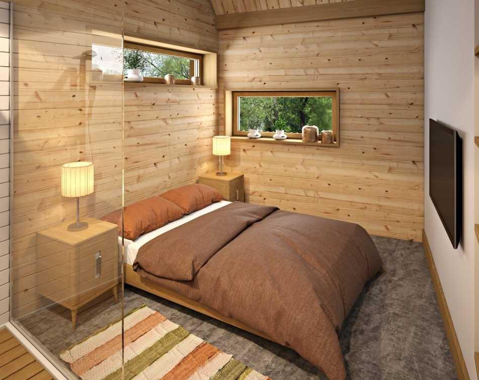 Ванная комната в деревянном доме: интересные решения, дизайн  - 18 фото
